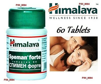HIMALAYA SPEMAN FORTE 60 Tablets Increase Sperm Count Herbal Male Infertility