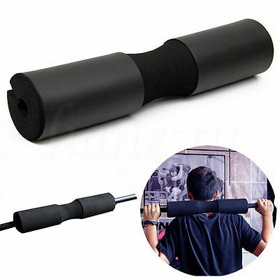 Black Barbell Pad Squat Bar Gym Fitness Neck Weight Lifting Shoulder Protection