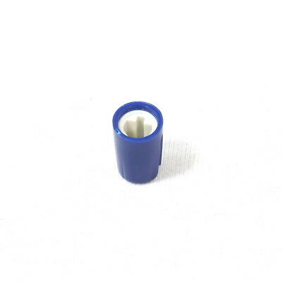 20x Blue Plastic Hi-Fi Control Knob Insert Type 10.5mmDx16.5mmH for 6mm D Shaft
