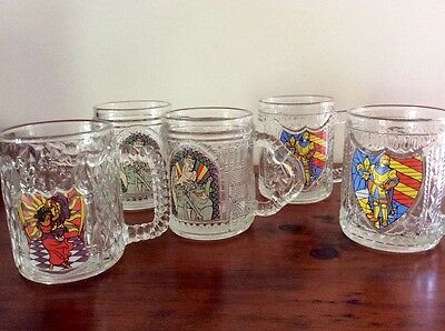 5 Disney Hunchback of Notredame Collectable Glasses/Mugs