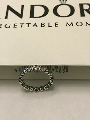 CLEARANCE!!!! New Authentic Pandora S. Silver Sparkling Heart Ring - No 190897CZ