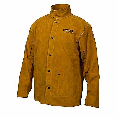 New Lincoln Electric Brown X-Large Flame-Resistant Heavy Duty Leather Welding