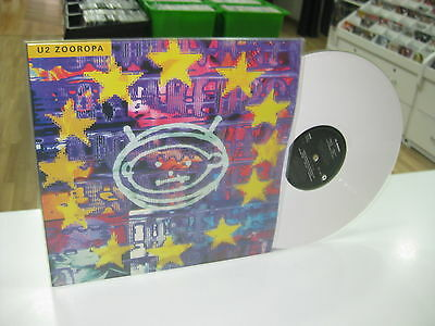 U2 Zooropa Lp White Marble Vinyl Limited Edition