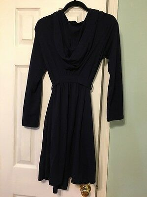 Bump In The Night Maternity Navy Blue Robe Hooded Cardigan