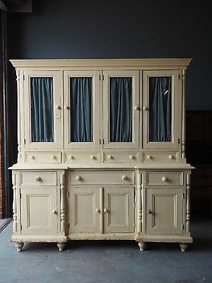 Shabby Chic Country Kitchen White Large Pine Welsh Dresser UK DELIVERY AVAILABLE