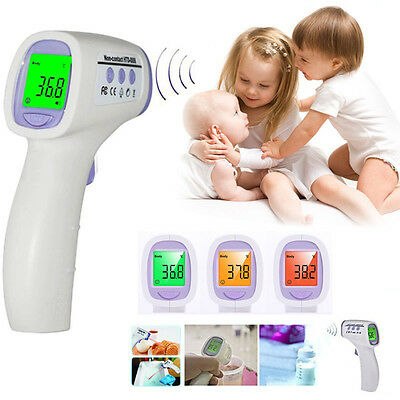 Baby Infrarot Thermometer Digital LCD Fieberthermometer Ohr Stirn Kinder Tester