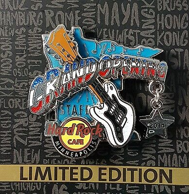 Hard Rock Cafe Minneapolis Mall of America Opening Staff Pin, silver, LE 150 new