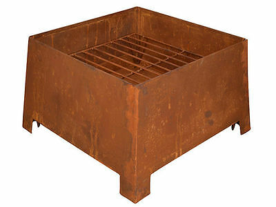 1 rustic square fire place 38cm 38cm 24cm