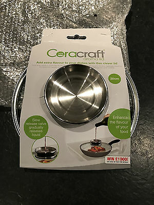 JML 20cm Aroma Lid for Ceracraft Regis Stone Saucepans and Frying Pans - New
