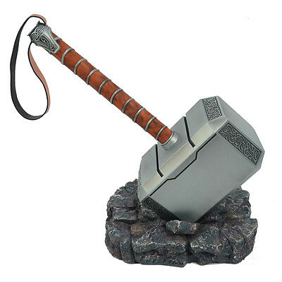 CATTOYS 1:1 Full Metal The Avengers Thor Hammer 1:1 Replica Prop Mjolnir Cosplay