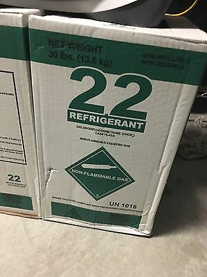 R22 R 22 Freon New PURE REFRIGERANT 22, 30lbs SEALED virgin AC Refrigerant r-22