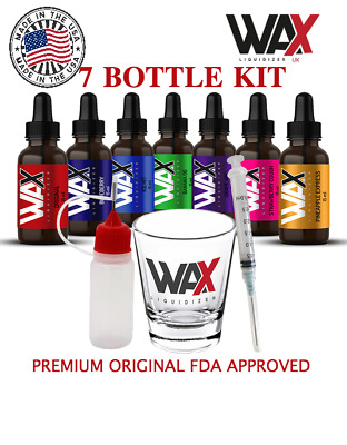 Wax Liquidizer - Complete Flavour Kit - 7 x 15ml - Herbal E Juice Dabs Wax Vape