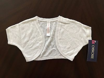 NEW Cherokee Toddler Girls Lightweight Shrug Sweater White - Size 2T
