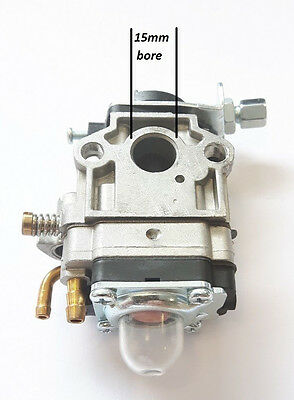 New Carburetor Carb To Fit Universal + Cg430  Strimmer Trimmer 15Mm Bore