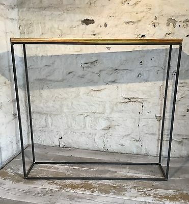 Industrial Style Minimal Narrow Console Hall Table Modern Display Thin Framed
