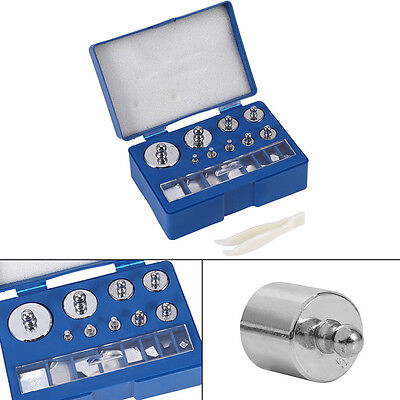 17Pcs Set 211.1g 10mg-100g Precision Calibration Weights Test Storage Case