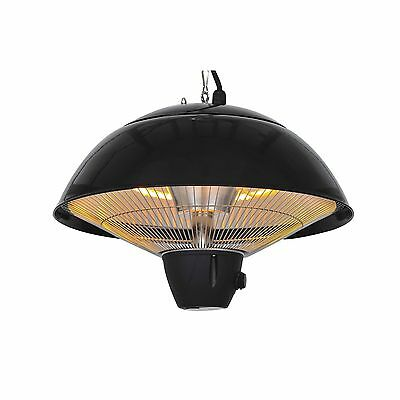 Modern 1500 W Outdoor Ceiling Mounted Aluminium Halogen Electric Hanging Heater