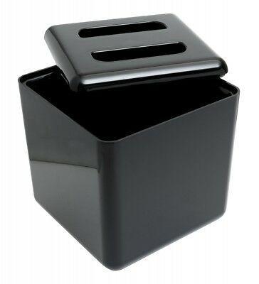 Square 4 Litre Ice Bucket with Lid Black Bar Ice Bucket Bar Pub Accessories
