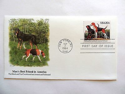"""September 7th, 1984  """"Man's Best Friend in America"""" First Day Issue Lot E"""
