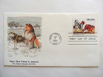 """September 7th, 1984  """"Man's Best Friend in America"""" First Day Issue Lot B"""