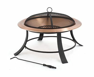 Large Modern Copper Mountain Deluxe Copper Fire Pit / Fire Bowl