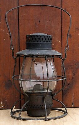 Vintage Dietz 39 Vulcan Clear Globe Railroad Train Lantern New York
