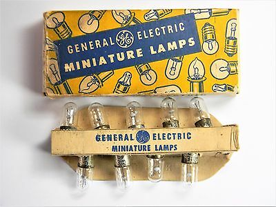 Box Of Nine (9) NOS (GE) Metal Bayonet Base #43 Light Bulbs / Lamps