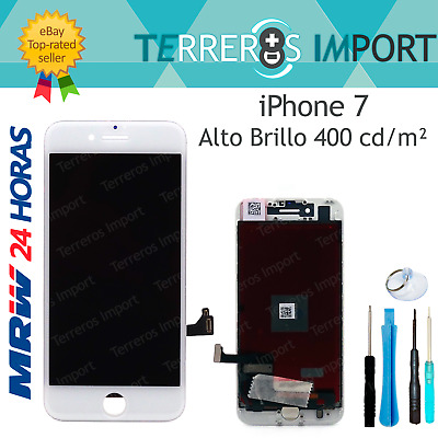 "Pantalla Completa LCD para iPhone 7 4.7"" Blanco Blanca Display Frontal Completo"