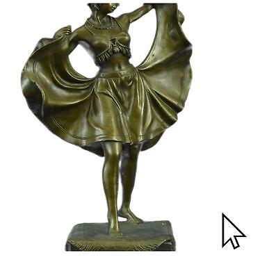 Bronze Sculpture Bergman Austrian Orientalist Naughty al Hot Cast Art Figurine S