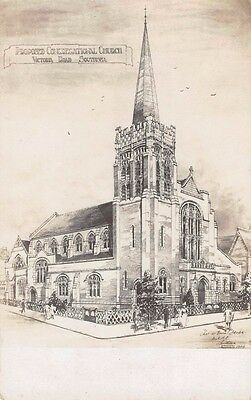 Hampshire  - SOUTHSEA, Proposed Congregation Church, Victoria Rd - Real Photo.