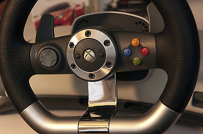 Volant Microsoft officiel XBOX 360 sans fil - Wireless steering wheel + 2 games
