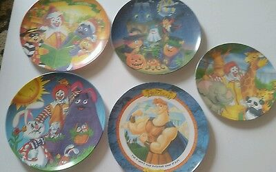 MacDonalds Plates Set of 5 Assorted