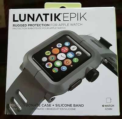 New lunatik Apple watch case with silicone band 42mm