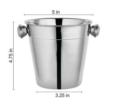 Evokk Stainless Steel Ice Bucket Chilled Ice Cube Holder Pack of Style 12CM