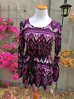 New Three Seasons Maternity size L Large top shirt long sleeve career purple NWT