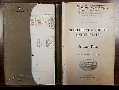 Geological Atlas of The United States Folio 190 Niagara 1914 w Maps & Fold-Outs