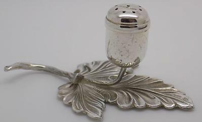 Vintage Solid Silver RARE Italian Salt / Pepper Shaker - Quirky - Usable - Stamp
