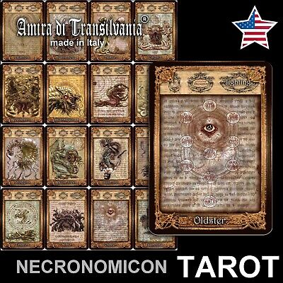 Necronomicon tarot rare limited hand made edition Lovercraft occult pagan wiccan