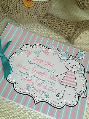 Personalised Guest Book,memory Album Christening,baptism-Available In Any Colour