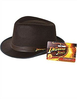 Indiana Jones Adult Costume Accessory Brown Fedora Hat