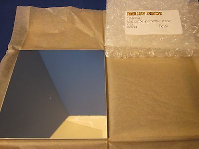MELLES GRIOT 01MFG015 Square Mirror, 100mm, Crown 31/011, New