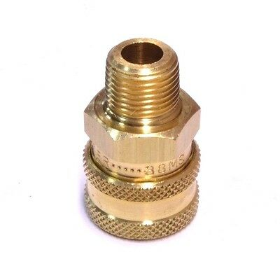 "Foster 38MS ST Series 3/8"" Male NPT Brass Quick Couplers Straight Thru FST"