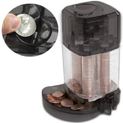 Automatic Coin Sorter Counter Machine Bank Business Money Change Boxed Black NEW