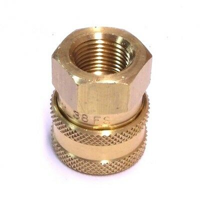 "Foster 38FS ST Series 3/8"" Female NPT Brass Quick Couplers Straight Thru FST"