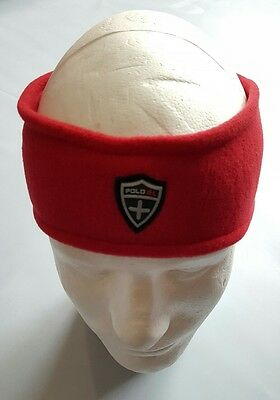 Nwt Polo Ralph Lauren Polartec Headband Earwarmer Red (S/m)