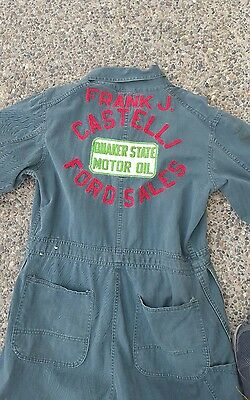 Vintage Embroidered Ford Coveralls chainstitch Quaker State
