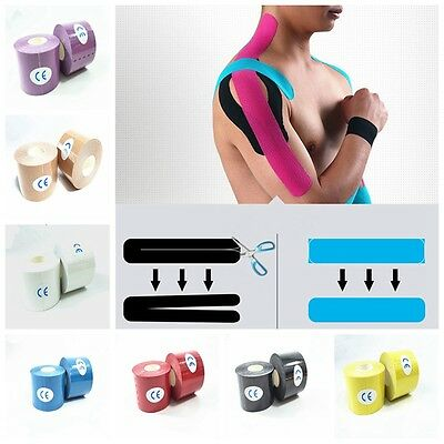 5cm * 5m Cotton Adhesive Tape Kinesio Sport Injury Muscle Strain Protect Bandage