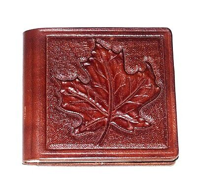 A-Z Leather Telephone Address Index Book Hand tooled leaf Style Stamp Design