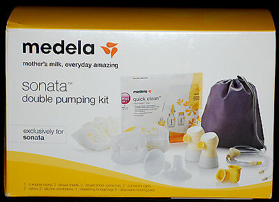 Medela Sonata Double Pumping Breast Pump Accessories Kit 68053 Brand New/Sealed