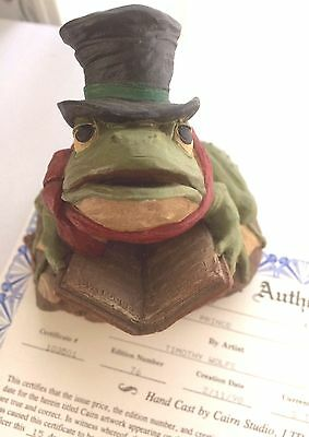 Tim Wolfe PRINCE Frog Top Hat extremely RARE! 1998 #79 signed COA certificate